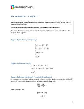 stx matematik a uden hjælpemidler