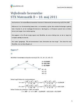 stx matematik a eksamenssæt