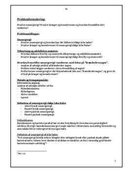 Omsorgsvigt | Synopsis
