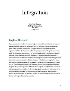 SRO om integration og ghettodannelse i engelsk A og samfundsfag A