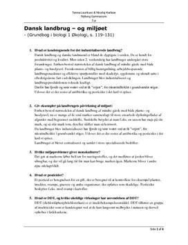 NF | Økologi, dansk landbrug og miljø | Noter
