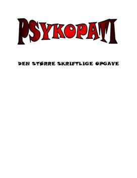 SSO om Psykopati & Diagnosticering