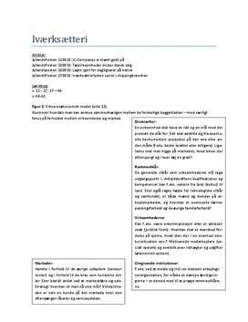 Alle EØ noter | Erhvervsøkonomi i videnssamfundet af Michael Andersen