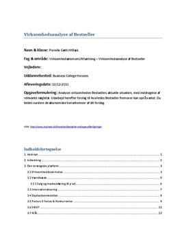 SRP i Afsætning A og VØ A: Analyse af Bestseller