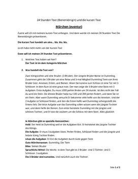 Die Bienenkönigin von Brüder Grimm | Analyse