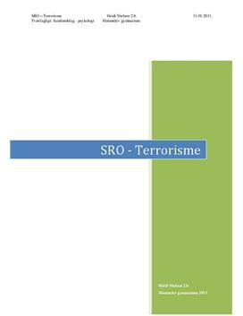 SRO om terrorisme og Al-Qaeda   Samfundsfag B og psykologi C