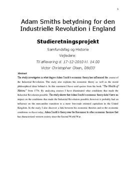 SRP: Adam Smith og Englands Industrielle Revolution