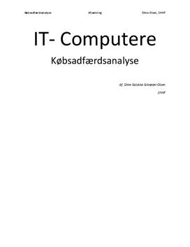 Købsadfærdsanalyse: IT - Computere