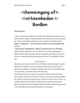 Virksomhedsanalyse af  BonBon | Afsætning A