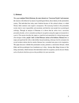 SRP om American Psycho i Engelsk A og Psykologi B