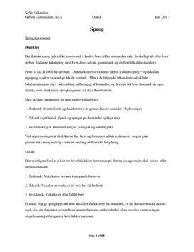 Dansk noter om Sprog