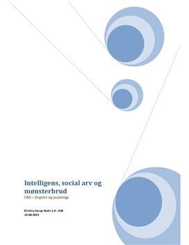 SRO om Intelligens, social arv og mønsterbrud