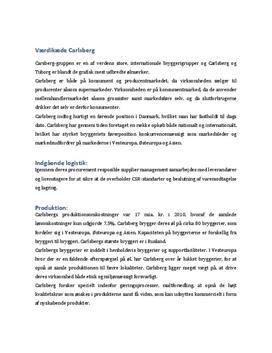 Carlsbergs værdikæde