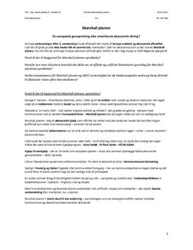 TEP - Synopsis om Marshall planen