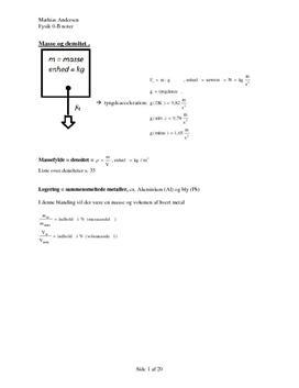 Noter til bogen Grib fysikken på Fysik B-niveau