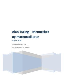 Alan Turing - matematikeren og mennesket   SRO i Engelsk A og Matematik A