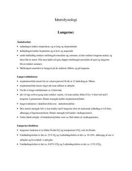 Idrætsfysiologi   Noter