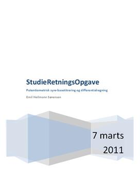 SRO: Potentiometrisk syre-basetitrering og differentialregning - Studienet.dk