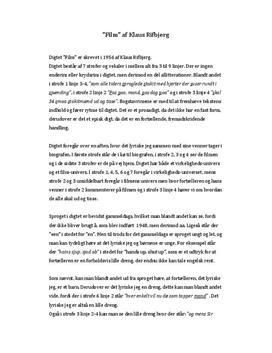 Elske klaus at rifbjerg analyse af Klaus Rifbjerg