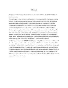 SRP om Krigen mod Terror i Engelsk A og Historie A