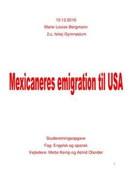 SRO - Mexicaneres immigration til USA