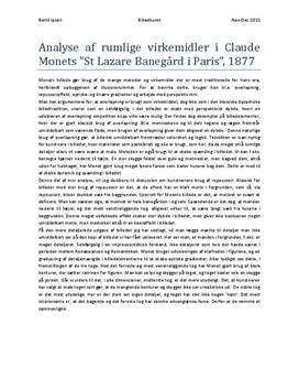 Analyse af La gare Saint-Lazare af Claude Monet