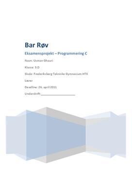Eksamensprojekt i programmering C om terningspil