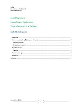 Carlsberg A/S - Konkurrencesituation samt regnskabs- og nøgletalsanalyse (2011)
