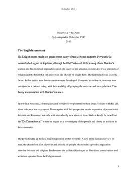 SSO: Den filosofiske udvikling i oplysningstiden