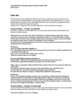 Erhvervsret Juridisk Opgave: Sanur Nord A/S og Impo ApC