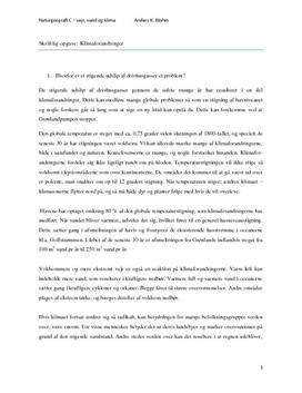 Drivhuseffekten - Rapport i Naturgeografi