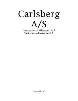 SOP om Carlsberg i IØ A og VØ A