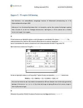 Opgave 9 Matematik STX A December 2011