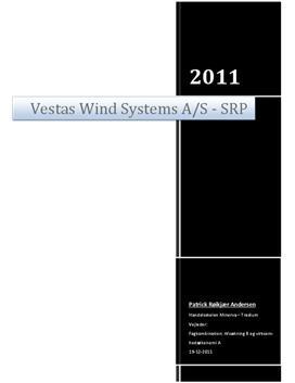 SOP: Vestas Konkurrencestrategi i 2011 i VØ og Afsætning