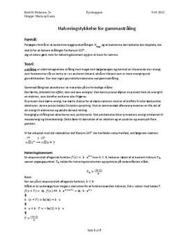 Absorptionsloven - Gammastråling