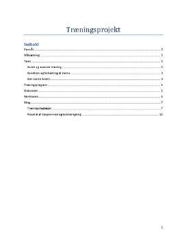 Konditionstal og skadesbehandling | Træningsprojekt