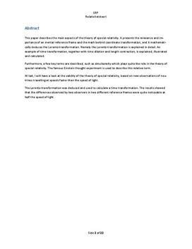 SOP: Speciel Relativitetsteori på HTX i Fysik og Matematik