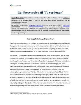 to verdener jp jacobsen resume