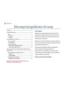 essay eksempel engelsk