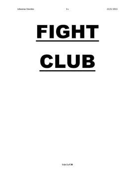 SRP om Fight Club i Engelsk A og Samfundsfag A