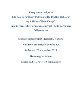 SRP om Harry Potter og Nazismen i Engelsk og Historie