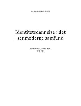 identitetsdannelse i det senmoderne samfund