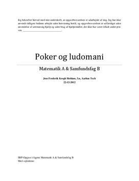 SOP om Poker og Ludomani i Matematik og Samfundsfag - HTX