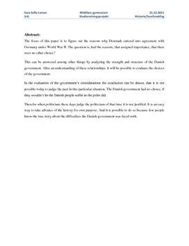 SRP: Samarbejdspolitik under 2. Verdenskrig i Historie A