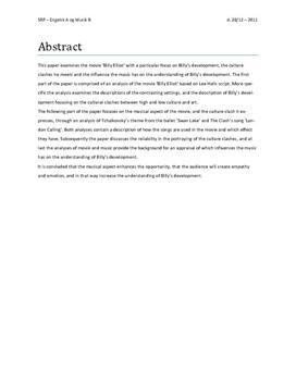 SRP om Billy Elliot i Engelsk A og Musik B