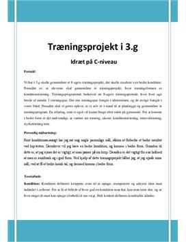 Kondition | Træningsprojekt