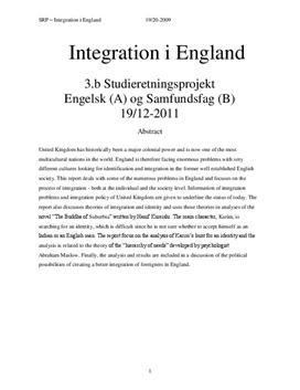 SRP om Integration i England i Engelsk A og Samfundsfag B