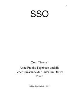 SSO: Anne Franks Tagebuch und die Lebensumstände der Juden im Dritten Reich