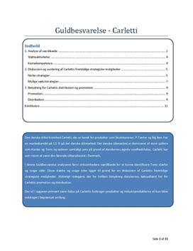 Carletti - Opgave i Afsætning - Eksempel på Besvarelse