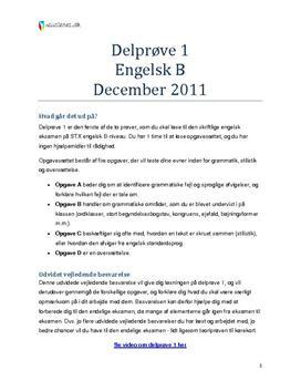 engelsk skriftlig eksamen a niveau